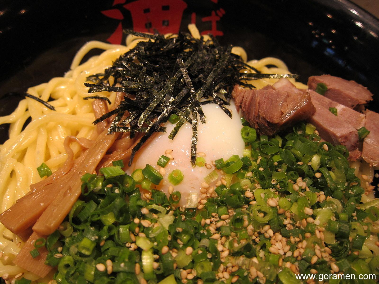 At 'Abura Soba' Here, one of the most popular choices is the crunchy onions combined with the smoothness of the noodles.