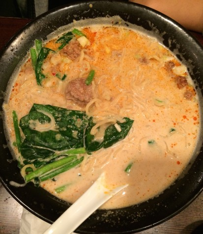 One of the popular choices is the tan-tan men, well-seasoned with spice and vegetables.