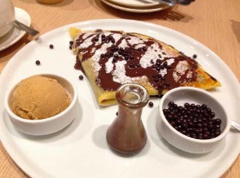 "The ""Crepe Brulee"" costs 1550 yen."