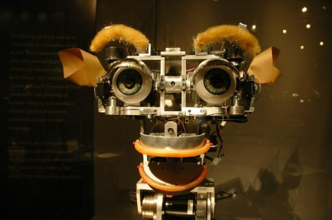 Kismet, a robot with basic social skills residing in the MIT museum.
