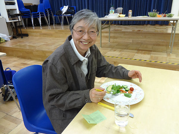 Sr. Uno was one of a small number of Hunger Banquet guests to receive a complete, nutritious meal.