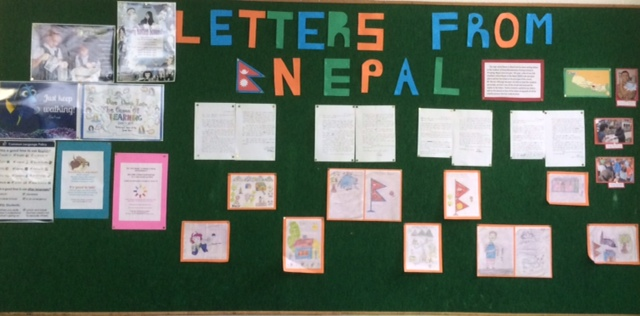 The Room to Read club and Nepali schoolchildren participated in a letter exchange. Original Photo: Reshma