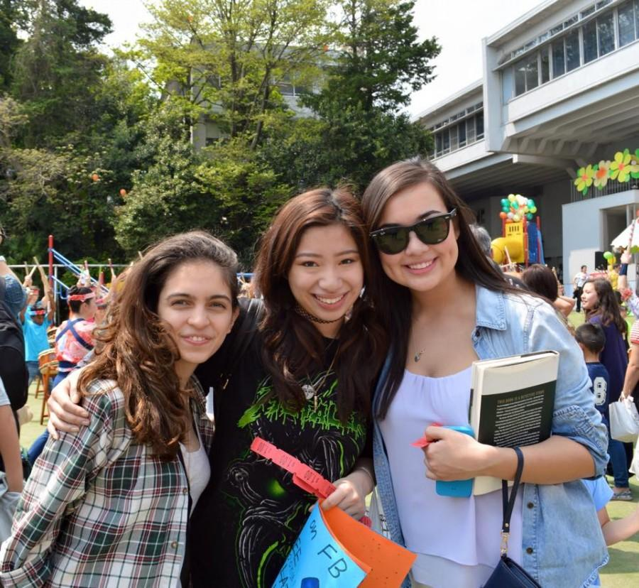 The editors promoting The International at Family Festival.