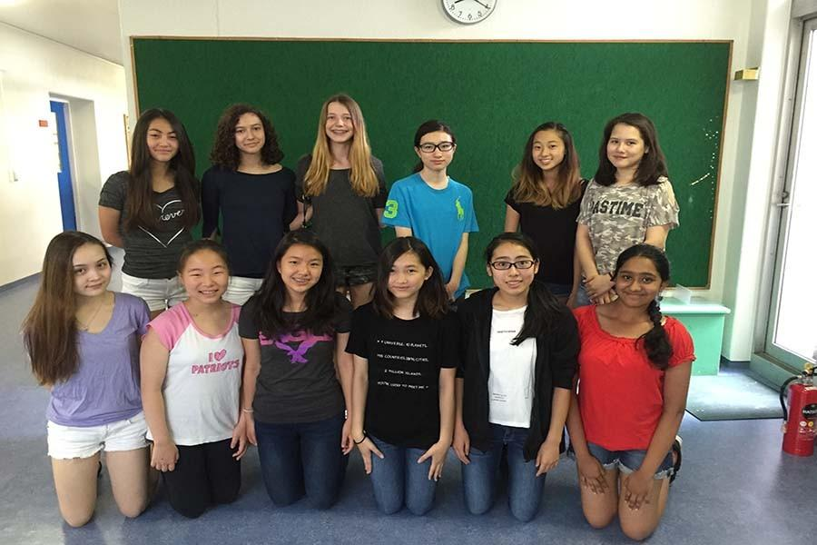 Twelve members of the Grade 8 Journalism Club published 18 articles for The International.