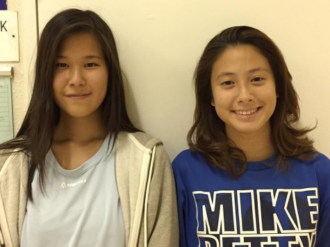 The two co-leaders Nana (12) and Haruna (12)