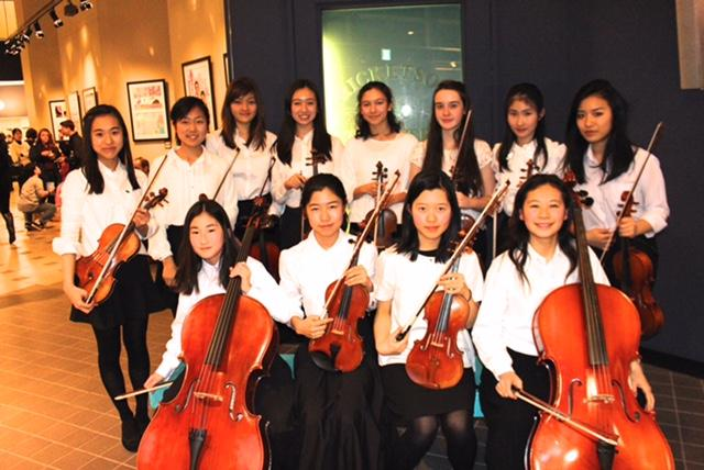 The 2015 members of the Honor Orchestra.