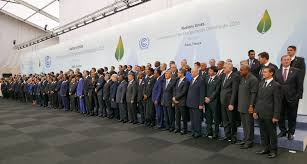 Photo shows the participants of  COP21