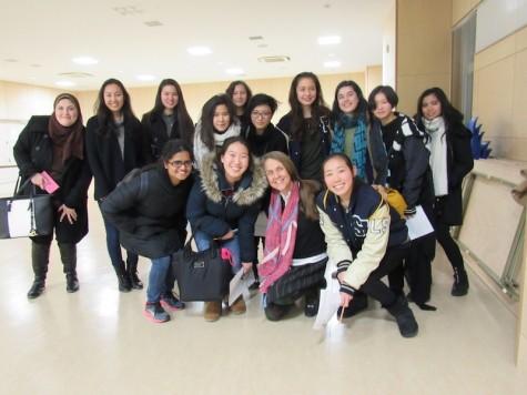 Ms. Nye and Sacred Heart students