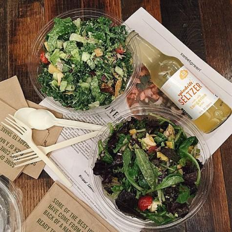Just two of the variety of salads you can get at Crisp Salad Works
