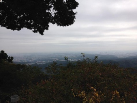 The beautiful view from the summit of Mt. Takao