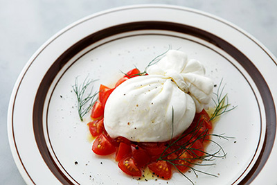 Photo Credit: Haruka Burrata with Fresh Tomato and Oregano