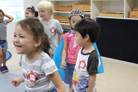 A daily Music class was added to the kindergarteners' summer course this year.