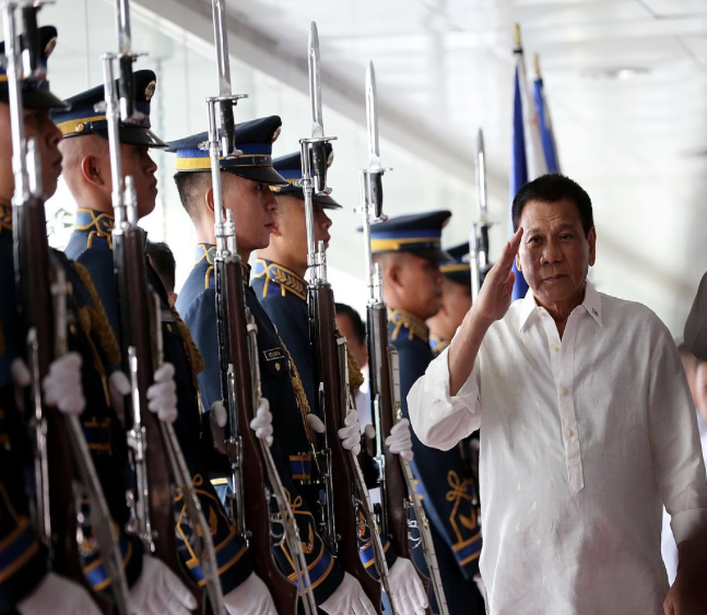 Philippine President rodrigo Duterte declares