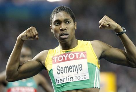 Caster Semenya at the Berlin 2009 World Championships in Athletics.