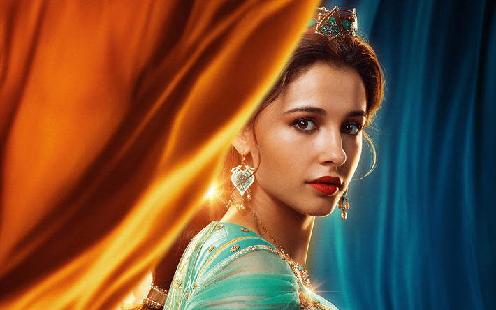 Poster of Princess Jasmine from live-action remake of Aladdin (2019) by Disney Studios