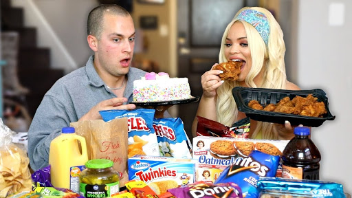 Mukbangers create videos in which they sit down with copious amounts of food, and communicate with their followers while eating.