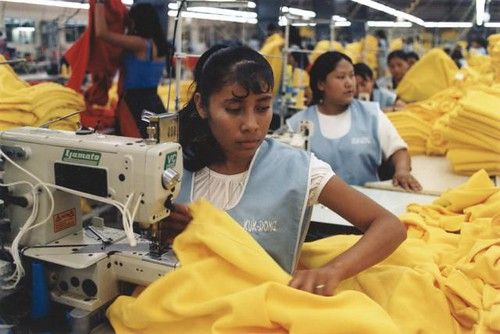 Fast fashion workers working in sweatshops.